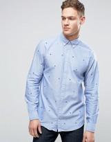 Tommy Hilfiger All Over H Embroid Shirt Buttondown New York Regular Fit