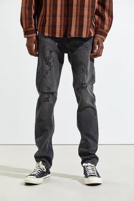 BDG Black Wash Destructed Skinny Jean
