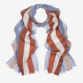 Bally Men's cotton viscose jacquard scarf in multi-ocean spray