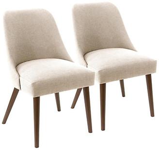 One Kings Lane Set of 2 Barron Side Chairs - Talc
