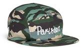 MAISON KITSUNÉ 'Parisien' logo camouflage print cap