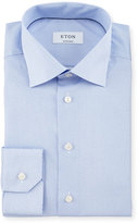 Eton Contemporary-Fit Chain-Stitch Print Dress Shirt, Blue