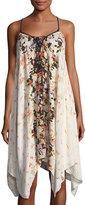 Band of Gypsies Floral-Print Sleeveless Midi Dress
