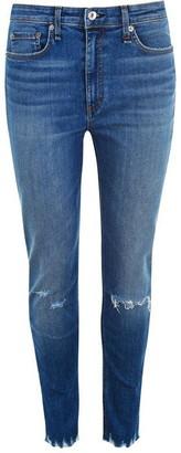 Rag & Bone Nina High Rise Ankle Grazer Jeans