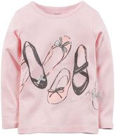 Carter's Graphic Tee (Baby) - Ballet Shoes-24 Months