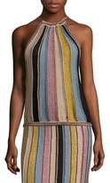 M Missoni Vertical Stripe Crochet Top