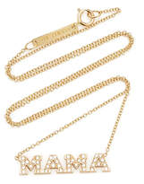 Zoe Chicco 14K Yellow Gold 4 Letter Pave Diamond Word Necklace