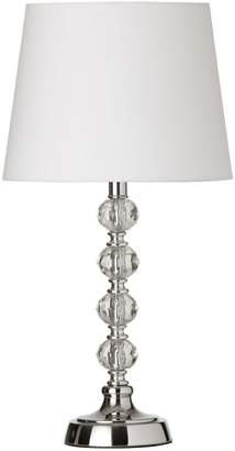 Dainolite Crystal One-Light Ball Table Lamp