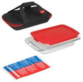 Pyrex 4 Piece Glass Portable Bakeware Set