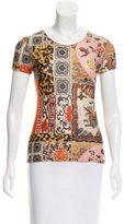 Roberto Cavalli Short Sleeve Printed Top