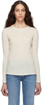 Max Mara Off-White Cashmere and Silk Zeno Sweater