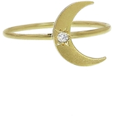 Andrea Fohrman Mini Crescent Moon Ring - Yellow Gold