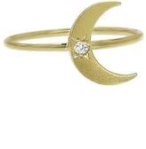 Andrea Fohrman Mini Crescent Moon Ring - Yellow Gold