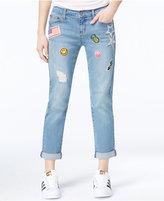 Earl Jeans Destructed Patched Boyfriend Jeans