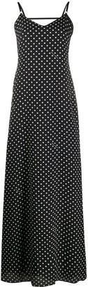 Boutique Moschino Polka Dot Long Dress