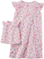 Carter's Toddler Girl Unicorn Night Gown Set