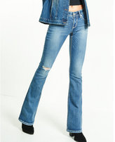 Express low rise thick stitch bootcut jeans