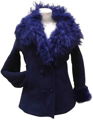 Le Sentier Blue Shearling Coat for Women