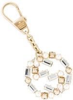 Gucci Crystal-Embellished GG Keychain w/ Tags