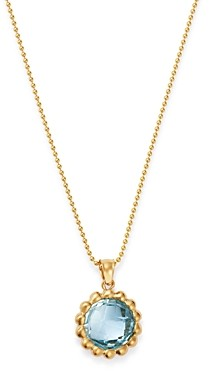 Bloomingdale's Blue Topaz Beaded Pendant Necklace in 14K Yellow Gold, 18 - 100% Exclusive