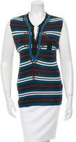 Jean Paul Gaultier Striped Sleeveless Top
