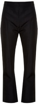 Vetements High-rise kick-flare cropped twill trousers