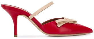 Malone Souliers Jenna 70mm bow-applique mules