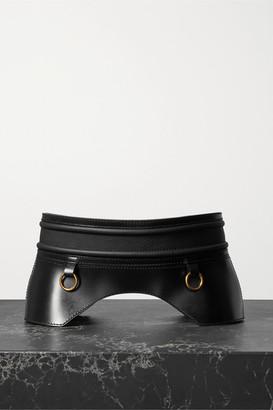 Alexander McQueen Embellished Leather Corset Belt - Black