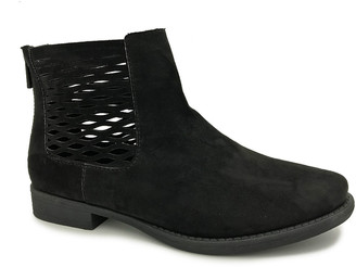 Bamboo Women's Casual boots BLACK - Black Primetime Cutout-Accent Ankle Boot - Women