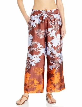 Seafolly Women's Printed Wide Leg Cropped Beachpant Swimsuit Coverup