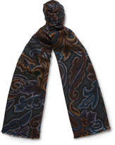 Etro - Paisley-print Wool And Silk-blend Scarf