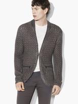 John Varvatos Hook & Bar Cable Sweater Jacket