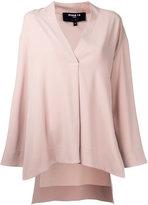 Paule Ka V-neck blouse - women - Polyester/Triacetate - 36