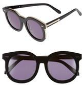Karen Walker Women's 'Super Duper Thistle' 52Mm Retro Sunglasses - Black/ Gold