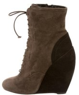 Alaia Suede Wedge Boots