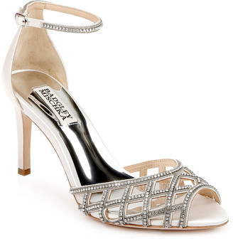 Badgley Mischka Rain Crystal Satin Ankle-Strap Sandals