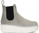 Flamingos Ssense Exclusive Grey Suede Gibus Platform Boots