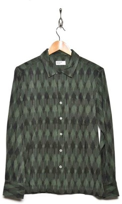 Universal Works 21146 Heavy Ikat Garage Shirt Green - L