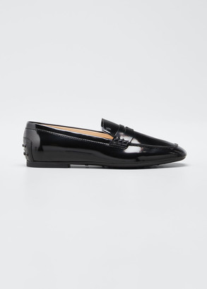 Tod's Patent Rubber-Sole Loafers