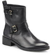 Tory Burch Bennie Buckle Leather Ankle Boots