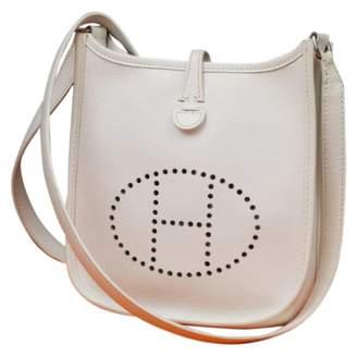 Hermes Evelyne White Leather Handbags
