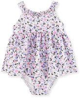 Kate Spade Floral Ruffle One-Piece Swim Dress, Multicolor, Size 12-24 Months