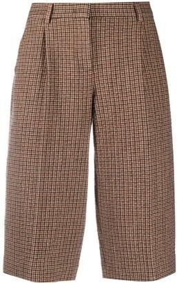 Lardini Checked Tailored Knee-Length Shorts