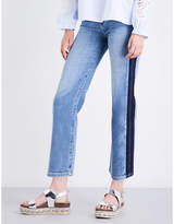 7 For All Mankind Kiki straight cropped high-rise jeans