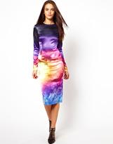 Asos PREMIUM Cloud Print Midi Dress