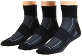 Wrightsock DL Stride Qtr 3 Pair Pack