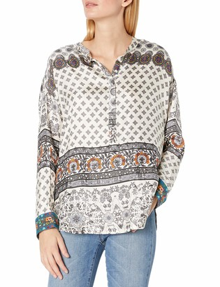 Johnny Was Women's Printed Silk Long Sleeve Blouse