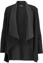 Majestic Draped Merino Wool And Cotton Cardigan