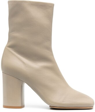Acne Studios Leather Mid-Heel Ankle Boots