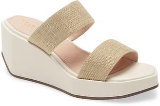 Cecelia New York Bailey Wedge Platform Slide Sandal